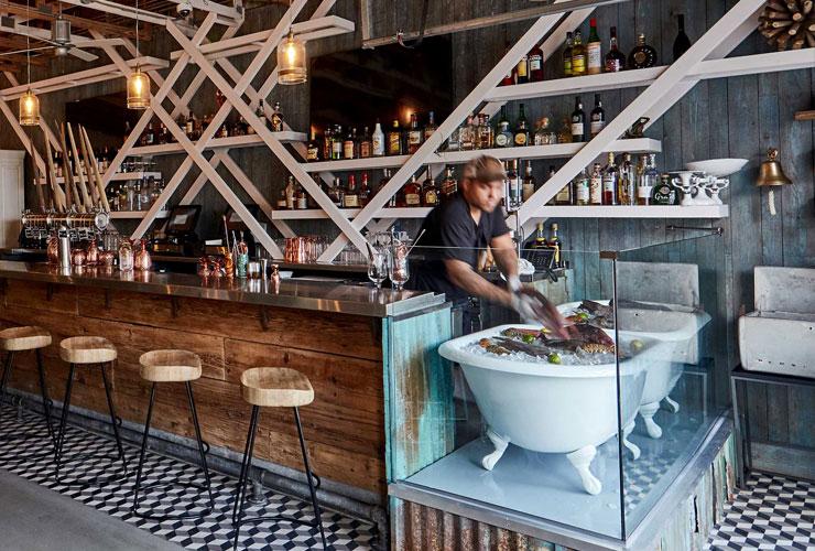 Barman in Stiltsville Fish Bar